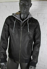 Tom Tailor Denim Hooded Leatherlook Jacket Innenjacke abnehmbar NEU UVP:139,95