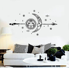 Vinyl Wall Decal Sun Moon Arrow Stars Room Interior Stickers (ig4285)