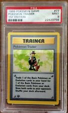 PSA GRADED POKEMON 1ST EDITION SHADOWLESS BASE - RARES, UNCOMMONS AND COMMONS