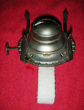 Vintage P&A Eagle No. 2 Oil Lamp Burner NOS, w/ Wick USA Made Dull Brass Plated