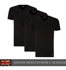 3-pack Ralph Lauren Polo Black Classic Cotton V-Neck Sleepwear Tee Shirts
