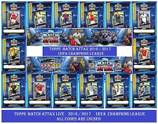 Choose UEFA Champions League 2016 2017 MATCH ATTAX LIVE PRO11 ALL 22 Code Cards