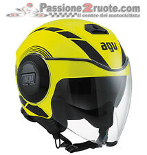 Casco Agv Fluid Equalizer nero giallo fluo yellow black XS S M L XL