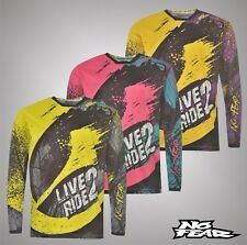 Mens Branded No Fear Large Mesh Panels Graphic Motocross Jersey Top Size S-XXL