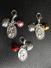 CAT COLLAR BELL with St Francis of Assisi Charm Patron St of Animals Protect