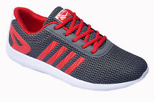 Calcetto Brand Mens Grey,Red Sports Shoes Star