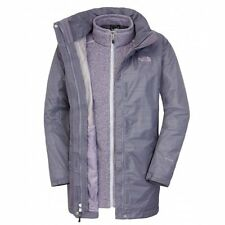 North Face Womens Triton Tricimate Parka Jacket Greystone / Purple  - S, M & XL