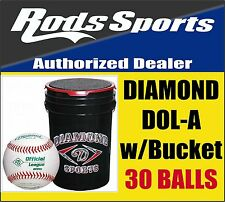 30 DOL-A Diamond DOLA Baseballs High School Approved NFHS Stamp with Bucket NEW