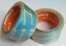 50MM X 66M  CLEAR ROLLS STRONG PARCEL PACKING SELLOTAPE