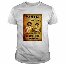 T-SHIRT MAGLIETTA - BUD SPENCER TERENCE HILL WANTED TV FILM CULT WESTERN