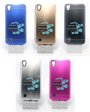 funda carcasa rigida aluminio interior gel tpu lg x power (4g) 5.3""