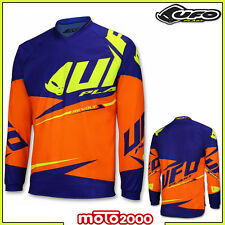 MAGLIA T-SHIRT JERSEY UFO MOTO CROSS REVOLT OFF ROAD ENDURO ADULTO ARANCIO BLU