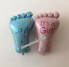 """Foot Shape Foil Balloon Birthday Party Baby Shower Child """"It is a Boy/Girl"""" 1PCS"""