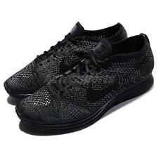 Nike Flyknit Racer Triple Black Men Running Shoes Racing Sneakers 526628-009