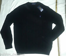 BNWT-Polo Ralph Laurens Mens Cable Knit Cashmeere Sweaters - Navy & Black - M /L