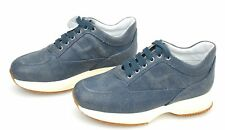HOGAN JUNIOR INTERACTIVE SCARPA SNEAKER BAMBINA BLU DENIM CHIARO