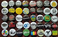Indie Rock 90's Button Badges (Collection 2).  25mm in Size. :0)