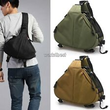 For Canon Nikon DSLR/SLR Digital Camera Case Shoulder Bag Backpack Crossbody WST