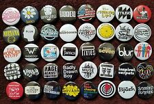 Indie Rock 90's Button Badges (Collection 3).  25mm in Size. :0)