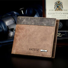 YATEER Men's Wallet Purse ID Credit Card Holder Clutch Handbag Leather Billfold