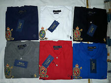 BNWT-Polo Ralphs Lauren Mens Creset Mens Small Pony Long Sleeve Polo Shirt - M