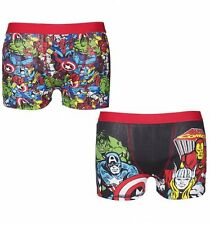 Official Men's Marvel Comics 2 Pack Boxer Shorts