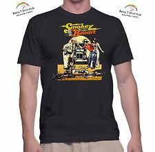 SMOKEY AND THE BANDIT BURT REYNOLDS MOVIE Retro CLASSIC PRINTED 70's TSHIRT