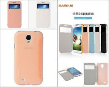 Baseus Folio Window Leather & Plastic Case Flip Cover for Samsung Galaxy S4