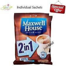2 in 1 White Coffee Maxwell House Individual cup instant coffee sachets sticks