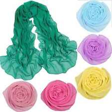 New Plain Hijab Scarf Fashion Large Chiffon Maxi Silk Headscarf Womens ladies