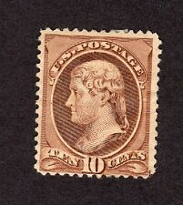 United States Sc# 209 Mint Hinged with Messy Back Stamp