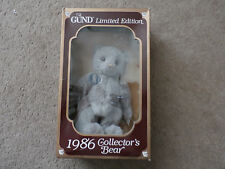 Vintage 1986 Gund Limited Edition Collectors Bear