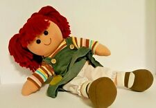 Country Dolls Rag Doll - 14 inch Girl with Red Hair and Corduroy Jumper