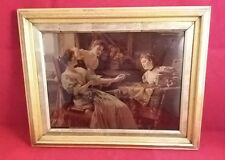 Original Framed Antique Victorian  Crystoleum Picture (2)