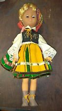 "Polish Doll Costumed in Regional Costume Vintage 16"" High"