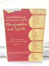 Vintage 1961 Gregg Reference Manual for Stenographers Typists Book Textbook PB