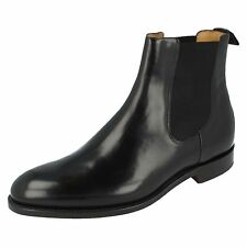 Mens Barker Bedale Black Hi-Shine Leather Smart Chelsea Boots G Fitting