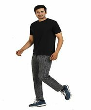 TT Men's Grey  - 100% Cotton - Printed Lounger  - ( Track Pant )