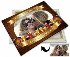 Box Canvas: Beer Drinkers Personalized From Your Own Photos - Ready To Hang