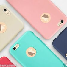 Slim New Candy Color Silicon Back Cover Cases &Tempered Glases Apple iPhone 5/5S