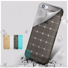 Soft Sillicon transparent TPU Back Cover Case for Apple Iphone 7 Cube Series