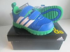 Adidas Kids Trainers STA Fluid 3.0 Infants Boys Blue Green Size UK 4 to 9.5