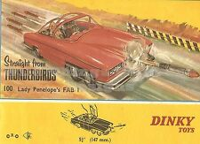 RETRO METAL PLAQUE: DINKY TOYS Straight from 'THUNDERBIRDS' Fab 1  sign/ad