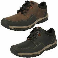 MENS CLARKS LACE UP WATERPROOF LEATHER CASUAL TRAINERS SHOES SIZE WALBECK EDGE