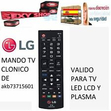 MANDO TV LG LED LCD Y PLASMA AKB73715601 3D Y NORMAL CLONICO REMOTE CONTROL LG