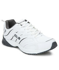 COLUMBUS BRAND MENS CASINO WHITE GREY CASUAL LACE SPORTS SHOES