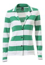 Best Connections Golf Donna verde a righe Maglia fine 42 44 Nuovo