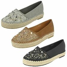 Womens Savannah Slip On Espadrille Casual Pump 'F80067'