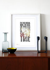METALLICA - Sad But True ❤ song lyric poster art Limited Ed Print - 5 sizes #12