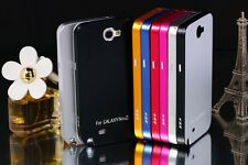 KXX Deluxe Metal Housing Bumper Back Case Cover For Samsung Galaxy Note 2 N7100